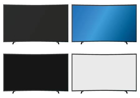 flatscreen: Illustration Graphic Vector Flatscreen with Copyspace for the creative use in graphic design Illustration