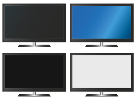 Illustration Graphic Vector Flatscreen with Copyspace for the creative use in graphic design Illustration