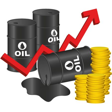 oil drum: Illustration Graphic Vector Price of Oil for the creative use in graphic design