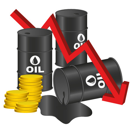 price development: Illustration Graphic Vector Price of Oil for the creative use in graphic design