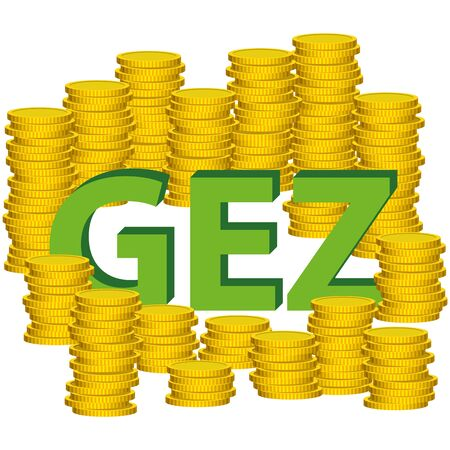 compulsory: Illustration Graphic Vector Money GEZ for the creative use in graphic design