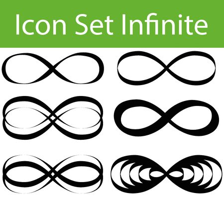 infinitely: Icon Set Infinite with 6 icons for the creative use in graphic design