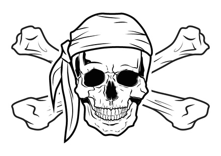 Illustration Vector Graphic Skull Pirate for the creative use in graphic design