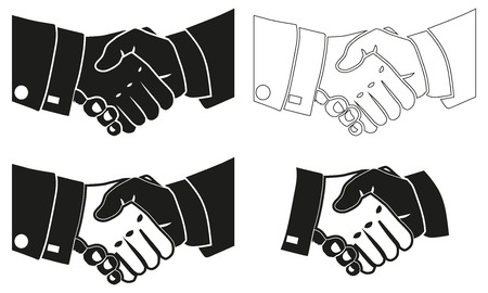 exempted: Illustration Icon Vector Shake Hands for the creative use in graphic design Illustration