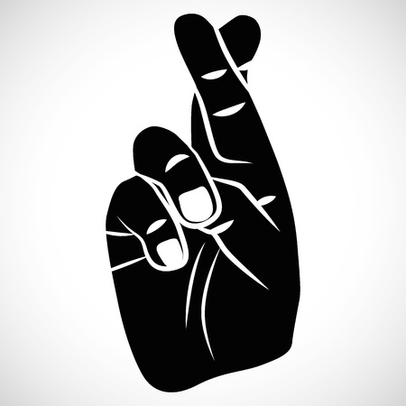 crossed fingers: Icon Crossed Fingers for creative use in graphic design