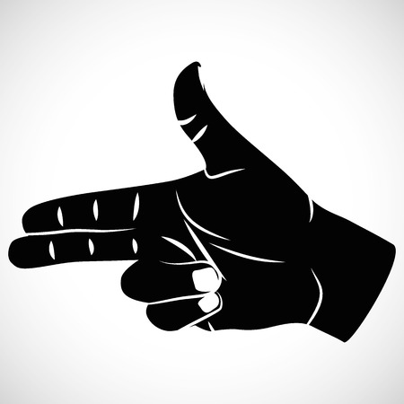 Icon hand sign pistel for creative use in graphic design