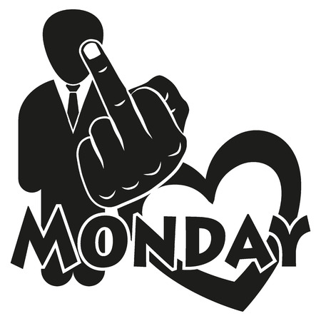 sucks: I hate Monday for the creative use in graphic design