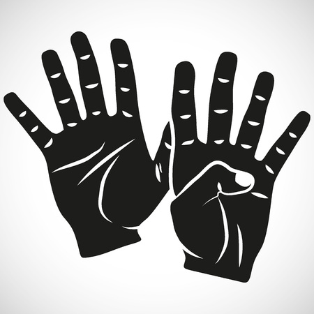 human finger: Icon Set Hand Nine for the creative use in graphic design
