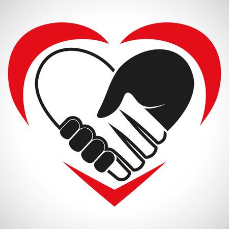 Illustratie Icon Vector Hart Handdruk voor het creatieve gebruik in grafisch ontwerp