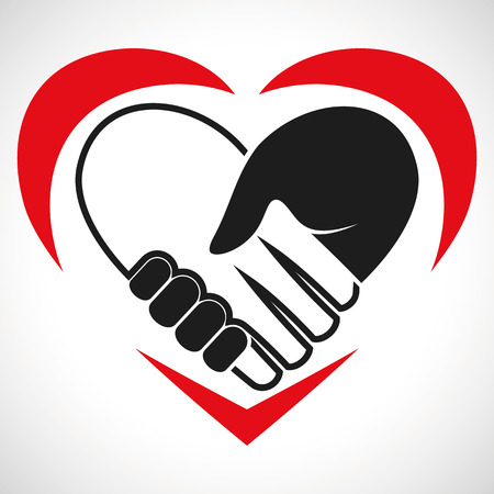 Illustration Icon Vector Heart Handshake for the creative use in graphic design