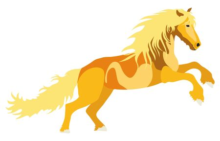 Illustration yellow Horse for the creative use in graphic design