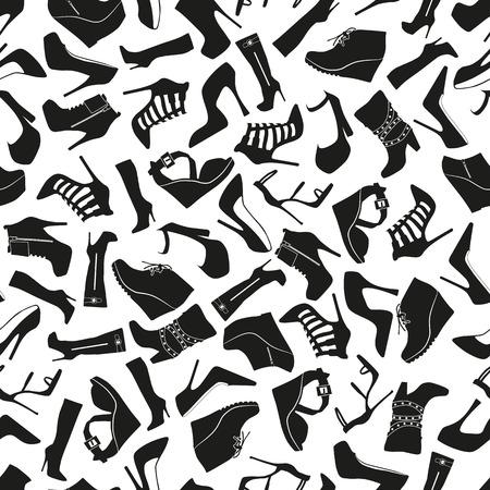 Illustration seamless Pattern High Heels for the creative use in graphic design Ilustração