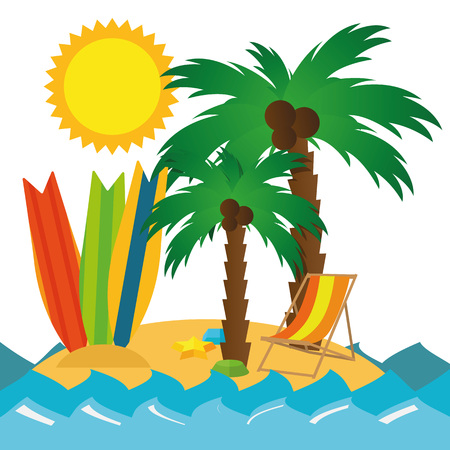 lake sunset: Illustration Summer Holiday Travel for the creative use in graphic design