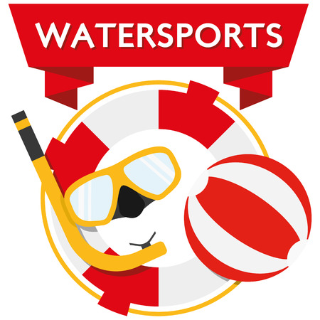 water polo: Illustration flat design watersports for the creative use in graphic design