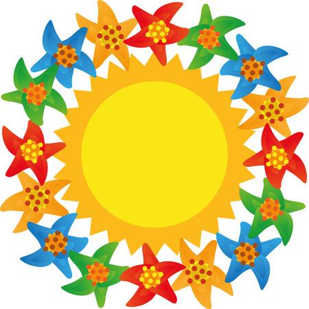 sun cream: Illustration Summer copy space for the creative use in graphic design Illustration