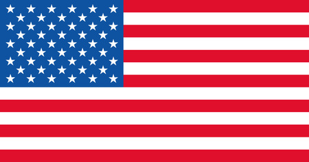 Illustration American Flag for the creative use in graphic design