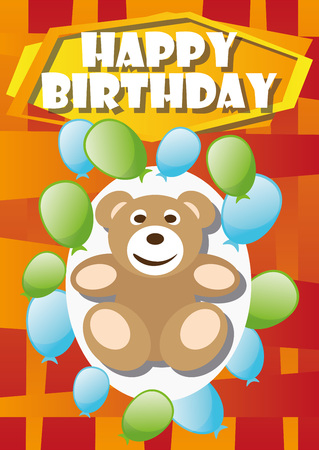 Playful Illustration Birthday Card Bear For The Creative Use