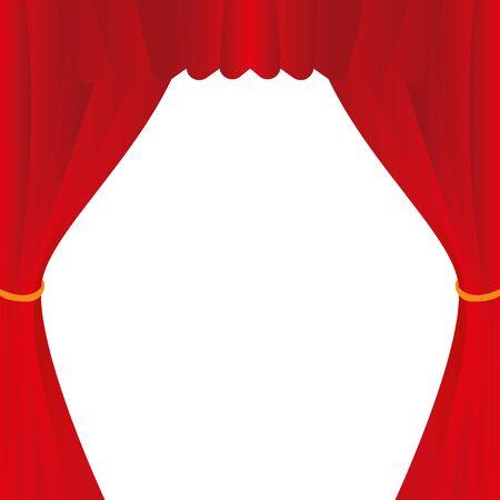 Illustration Red Curtain for the creative use in graphic design Ilustração
