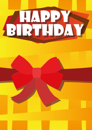 Playful Illustration Birthday Card Bow For The Creative Use In