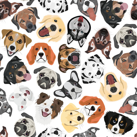 Illustration seamless Pattern Dogs for the creative use in graphic design.