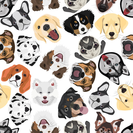 Pattern of Dogs for the creative use in graphic design