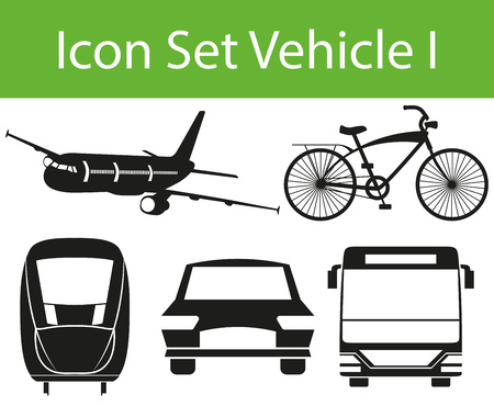 Icon Set Vehicle I with 5 icons for the creative use in graphic design Çizim