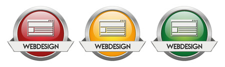 Modern Button Vector Webdesign for the creative use in graphic design Illustration
