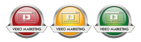 Modern Button Vector Video Marketing for the creative use in graphic design