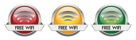 Modern Button Vector Free WiFi for the creative use in graphic design