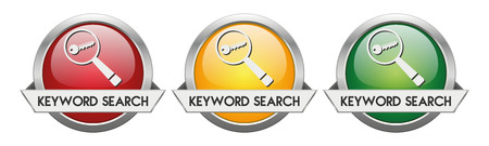 Modern Button Vector Keyword Search for the creative use in graphic design