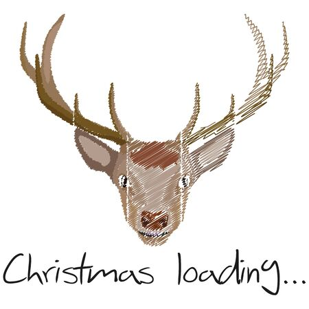 Illustration Christmas Loading Reindeer for the creative use in graphic design Illustration