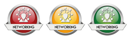 Modern Button Vector Networking for the creative use in graphic design Illustration