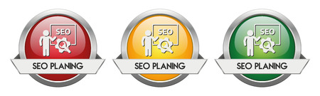 Modern Button Vector SEO Planing for the creative use in graphic design