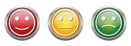 Modern button vector smiley for the creative use in graphic design Ilustrace