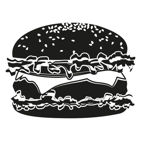 Burger Pictogram Icon for  creative use in graphic design