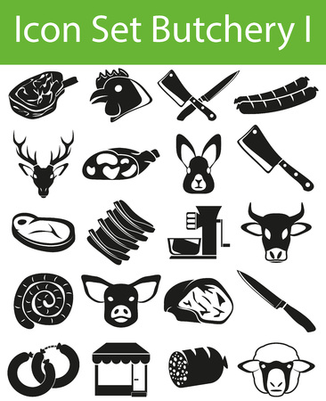 Set of butchery icons for creative use in graphic design