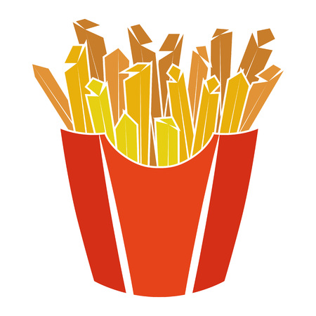 Colorful Pictogram Icon of Fries. Illustration