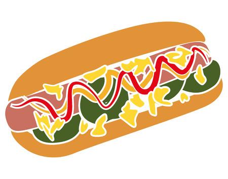 Colorful Pictogram Icon of Hotdog sandwich