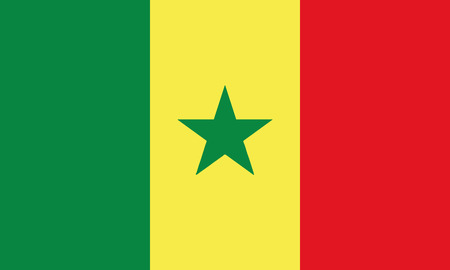 Detailed Illustration National Flag Senegal 일러스트