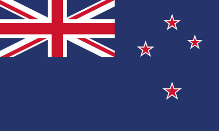 Detailed Illustration National Flag New Zealand