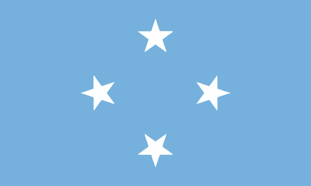 Detailed Illustration National Flag Micronesia
