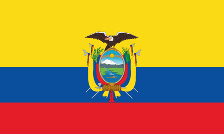 Detailed Illustration National Flag Ecuador
