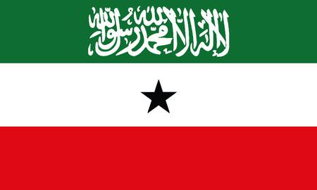 Detailed Illustration National Flag Somaliland