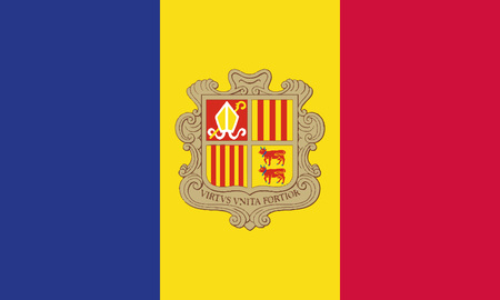 Detailed Illustration National Flag Andorra
