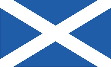 Detailed Illustration National Flag Scotland