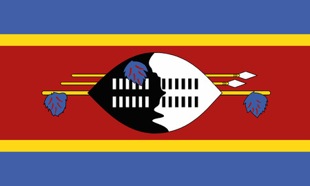 Detailed Illustration National Flag Swaziland
