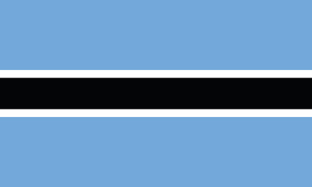 Detailed Illustration National Flag Botswana