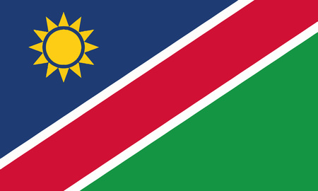 Detailed Illustration National Flag Namibia