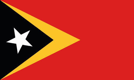 Detailed Illustration National Flag East Timor 일러스트