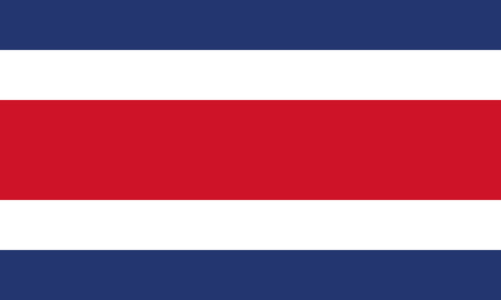Detailed Illustration National Flag Costa Rica